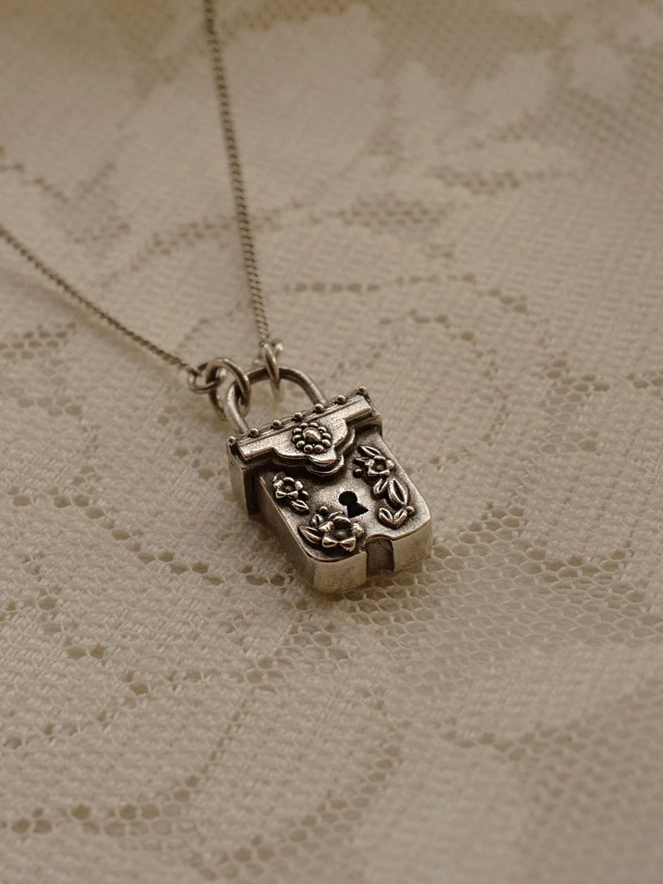 Alice Box Lock Necklace